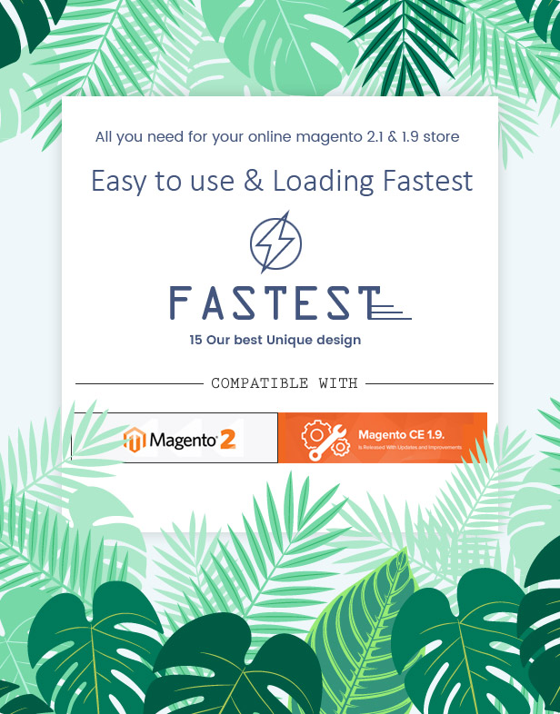 Fastest - Magento 2 & 1.9 with 15  Unique Homepages - Welcome