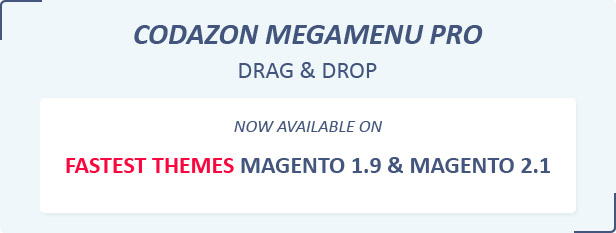 Codazon Megamenu Pro Magento 1 and Mega Menu Magento 2