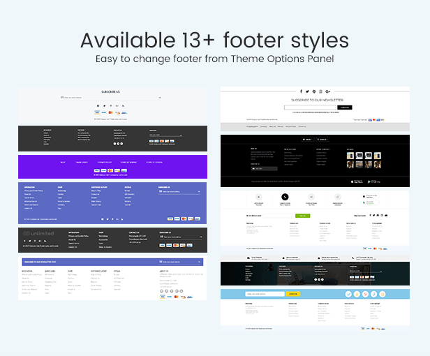 Infinit - Magento 2 & 1.9 Footer Styles